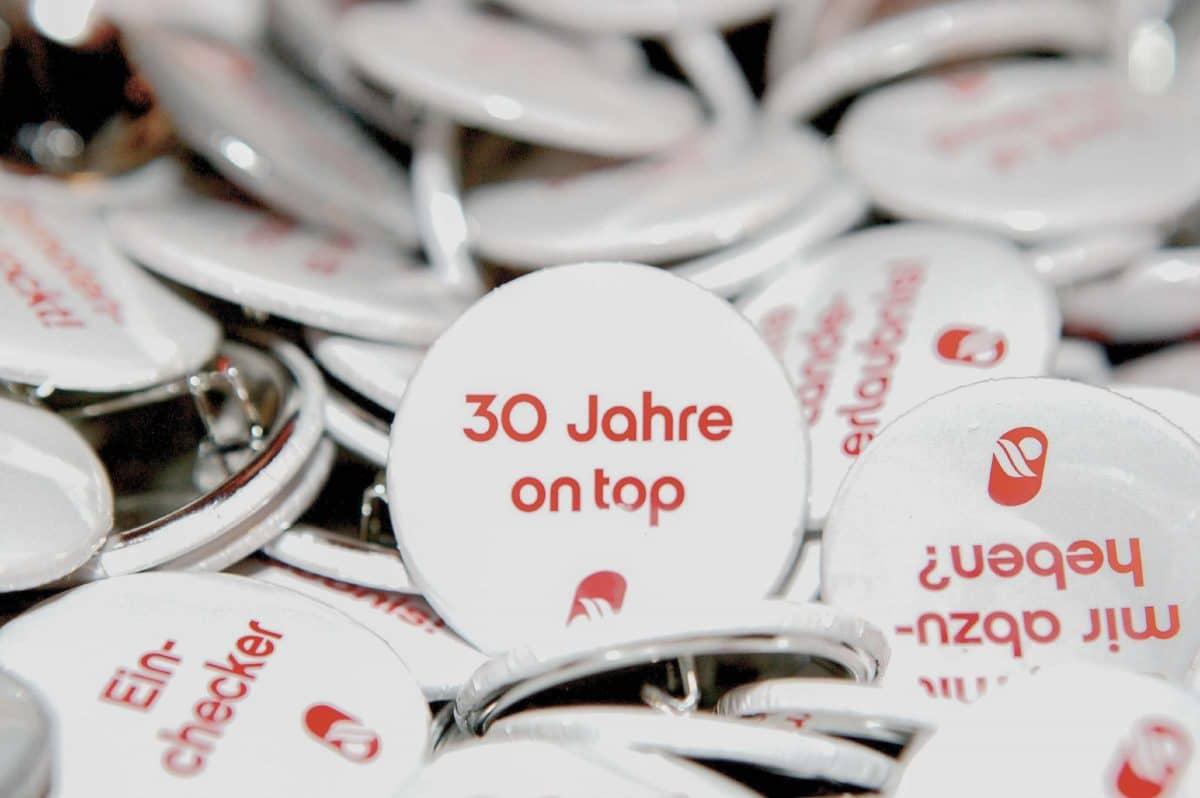 Eventfotografie Air Berlin 30 Jahr Feier Stickers