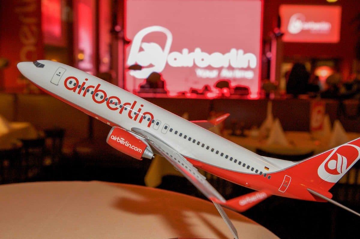Eventfotografie Air Berlin Flugzeugmodell Air Berlin