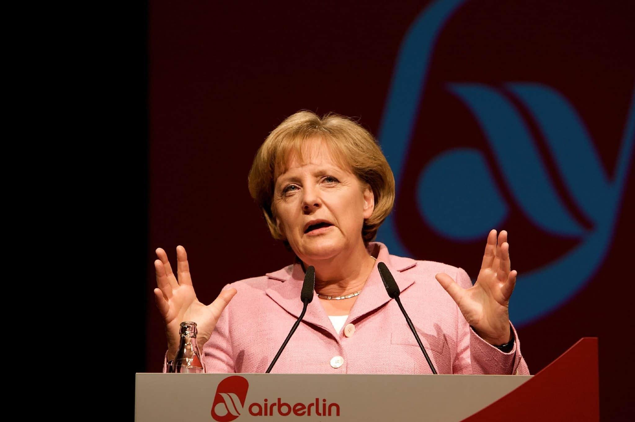 Eventfotografie Air Berlin Angela Merkel hält die Eröffnungsrede Air Berlin