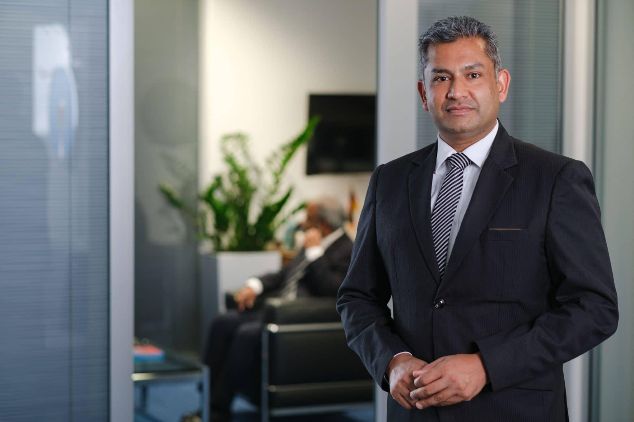 Business Portrait eines Bankangestellten